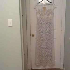NWT Jade Couture Vintage Lace Boho Wedding Gown 8